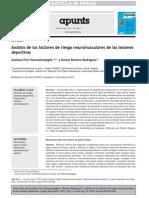 Análisis de Los Factores de Riesgo Neuromusculares de Las Lesiones