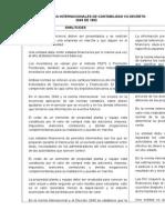 Comparativo normas colombianas y las normas internacionales