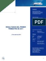 Resultados Primer Trimestre 2011 - Grupo Aeromexico XEspaxolx