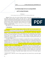 A Survey on the Relatinship Between Learning Beliefs and Learning Strategies