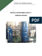 Modulo Intercambio Ionico y Osmosis Inversa