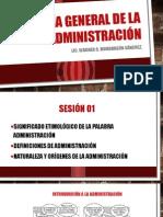 Sesión 1 - Teoría General de la Administración