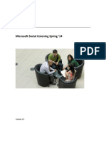 Microsoft Social Listening Users Guide