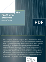 maximizing the profit of a business