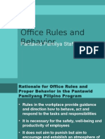 office rules and behavior
