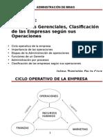 Cap. 2 Conceptos Gerenciales, Clasificacion de Las Empresas Segun Sus Operaciones