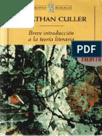 Breve Introducción a La Teoría Literaria (Jonathan Culler)