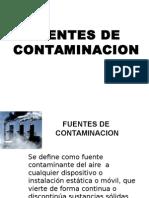 Fuentes de Contami. Aire 2015