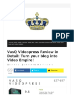 VasQ Videopress full features review and giant bonuses bundle