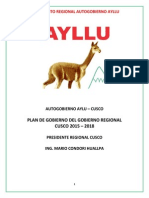 plan de gobierno ayllu