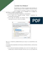 Servidor IIS en Windows