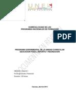1. Programa  Educacion Fisica Deporte y Recreación