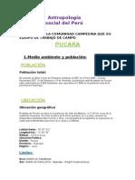 Antropólogia Social Del Perú