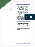 Univa Zamora Reglamento Servicio Social
