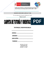 Carpeta de Tutoria 2015
