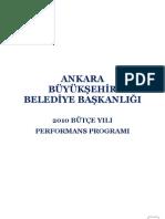 Ankara 2010 Performans Programı