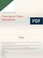 Concepto de Dato e Informacin