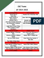 csi teams 2014-2015