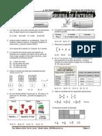 examen aritmetica 4° primaria