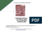 Evasión Fiscal, Un Problema a Resolver-libro