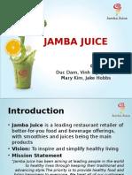 Jamba Juice Company Analysis