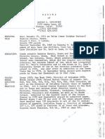 Hayden Covingtons Resume and Death Certificate