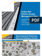 Dulles Rail Station Access Management Plan, Final, April 29, 2008