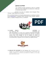 Ejemplos de Franquicias en El Perú