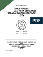 Kesiapan Kota Lama Semarang sebagai World Heritage