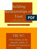 Building Relationships of Trust