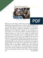 Pakistan Challenges (Political Aspects)