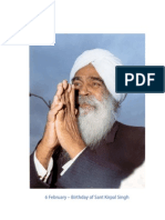 6 February - Birthday of Sant Kirpal Singh