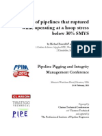 Study of Pipelines That Ruptured