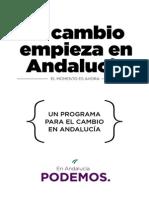 Programa Podemos Andalucía 2015