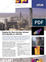 Infrared thermography at refineries
