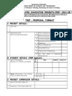 TRIP Proposal Format 2014-15