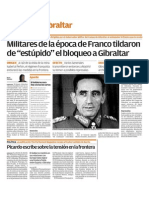 150421 Viva CG- Militares de La Época de Franco Tildaron de 'Estúpido' El Bloqueo a Gibraltar