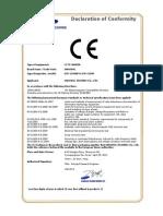 CE Declaration of Conformity SCP-2250HP, SCP-2250P