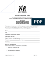 Program Proposal Form