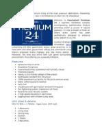 Panchsheel Premium 24 Features, Specifications, Unit Sizes & Locations Details