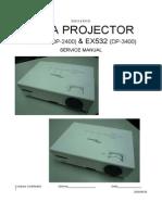 Optoma ES522(DP-2400)  EX532(DP-3400) ServiceManual 20090630