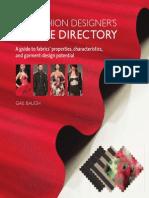 The Fashion Designers Textile Directory, Gail Baugh, Ed. Barrons Educational Series, 2011