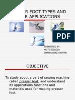 Presser Foot Presentation