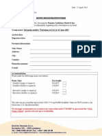 Hotel Registration Form