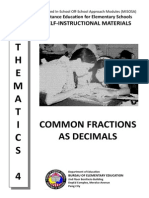 24. Common Fractions as Decimals