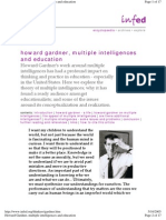 Howard Gardner, Multiple Intelligences and Education