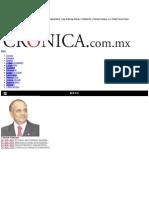 La Crónica de Hoy   Decisiones en el plano económico - Dr. Manuel Añorve Baños