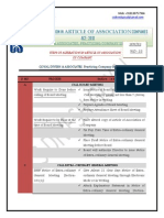 Article of Association- Table- Series-53