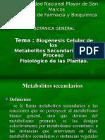 metabolitos secundarios
