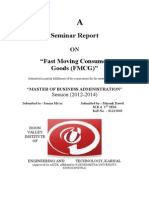 Final Report on Fmcg